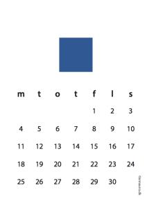 Blå kalender