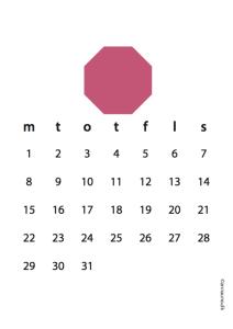 lyserød kalender