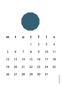 Petrulium blå kalender